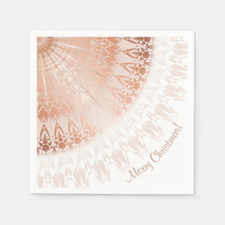 Rose Gold Merry Christmas Disposable Serviette