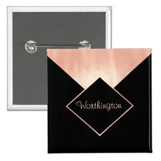 Rose Gold Metallic Professional  Feminine Modern 15 Cm Square Badge
