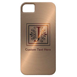 Rose Gold Monogram J iPhone 5 Cases