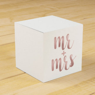 Rose gold Mr. & Mrs. favor boxes Favour Box