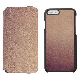 Rose Gold Ombre Glitter Sand Look Pink Incipio Watson™ iPhone 6 Wallet Case