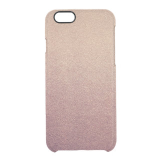 Rose Gold Ombre Glitter Sand Look Pink iPhone 6 Plus Case