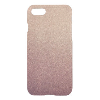 Rose Gold Ombre Glitter Sand Look Pink iPhone 8/7 Case