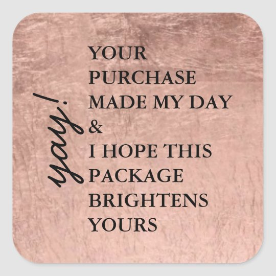 Rose Gold Package Sticker