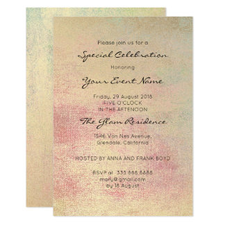 Rose Gold Painting Formal Mint Champaign Sepia Card