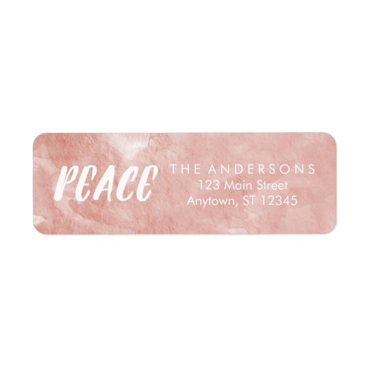 Rose Gold Peace Holiday Address Labels