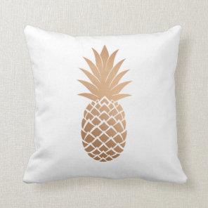Rose Gold Pineapple Pillow