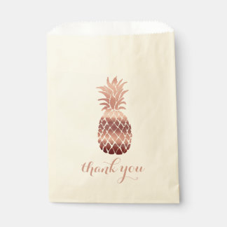 rose gold pineapple thank you favour bags