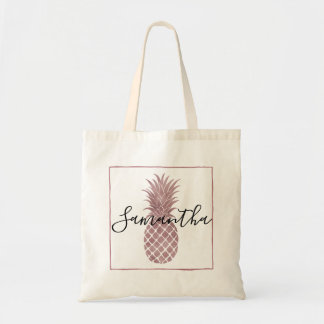 Rose Gold Pineapple Tote Bag