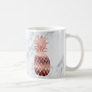 rose gold pineapples coffee mug