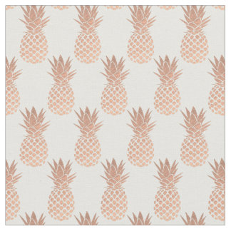 rose gold pineapples fabric