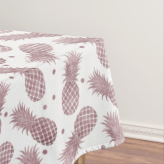 Rose Gold Pineapples Tablecloth