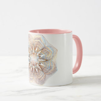 Rose Gold/Pink Abstract Flower Two Tone Mug