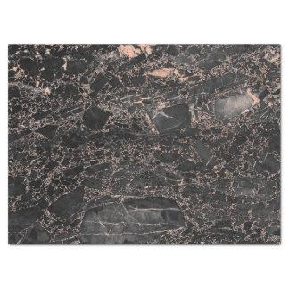 Rose Gold Pink Blush Glam Black Marble Glitter Tissue Paper