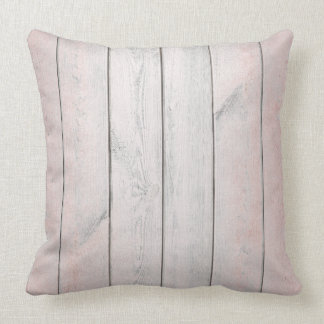 Rose Gold Pink Blush Metallic Wood Cottage Home Cushion
