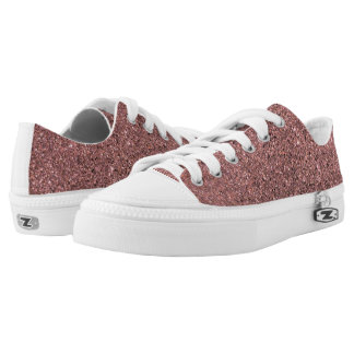 Rose Gold / Pink Glitter Sparkly Shoes