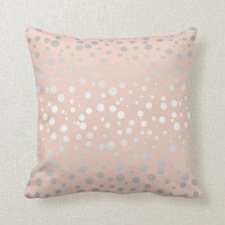 Rose Gold Polka Dots ID128 Throw Cushion