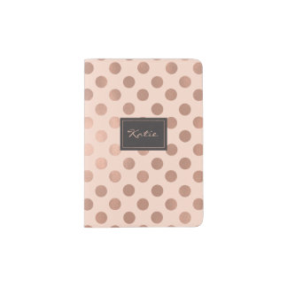 Rose Gold Polka Dots Passport Holder