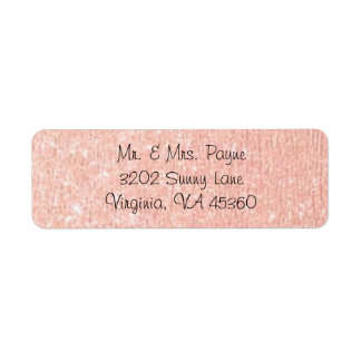 Rose Gold Return Address Labels