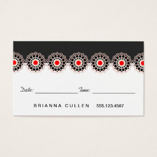 Rose Gold Rosette Hair Salon Appointment Reminder Business Card