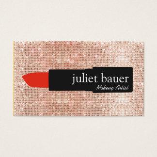Rose Gold Sequin Modern Makeup Artist Lipstick