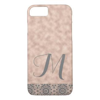 Rose Gold Shimmer Monogrammed Phone Case