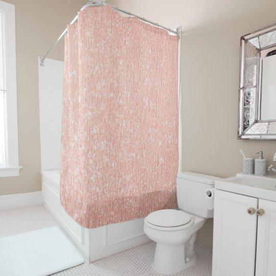 Rose Gold Shower Curtain Zazzle Co Uk