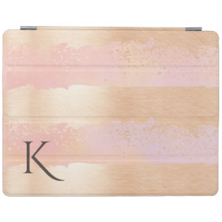 Rose Gold Stripes Monogrammed iPad Smart Cover iPad Cover