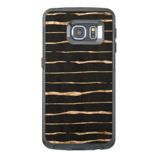Rose-Gold Stripes Pattern On Black