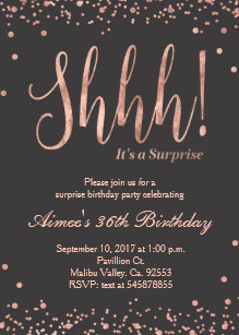 Surprise birthday invitations zazzle rose gold surprise birthday party invitation filmwisefo