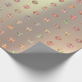 Rose Gold Swarovski Crystals Mint Copper Pink Wrapping Paper