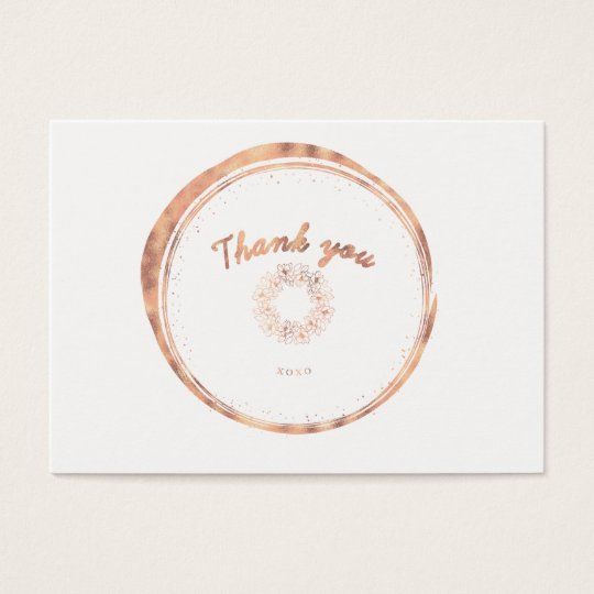 ★ Rose Gold Thank you Business Card