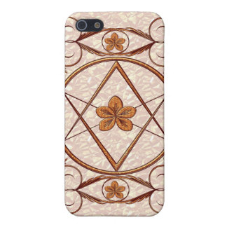 Rose Gold Unicursal iPhone 5/5S Covers