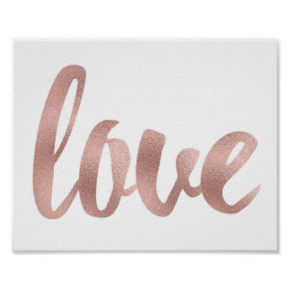 Rose gold wall art
