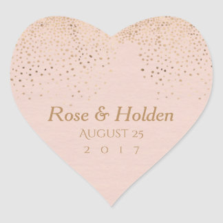 Rose Gold Wedding Stickers