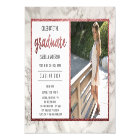 Rose Gold & White Marble | Photo Graduation Party Magnetic Card