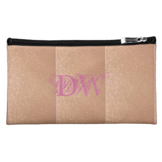 Rose Gold with Initials Cosmetic Bag