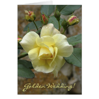rose, Golden Wedding! Greeting Card