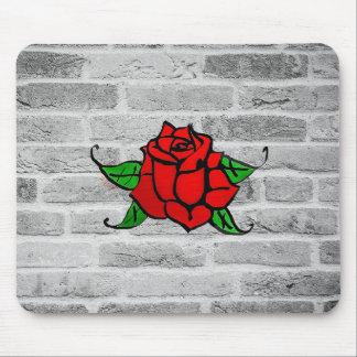 Rose Graffiti Mouse Mat