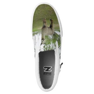Rose Grey Alpaca Printed Shoes