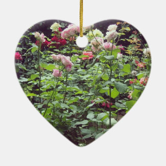 Rose Heart Ceramic Heart Decoration