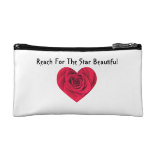 Rose Heart Makeup Bag