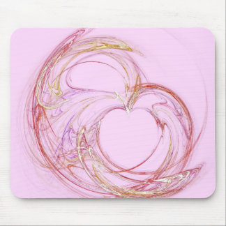 rose heart mouse pad