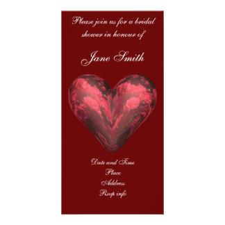 Rose heart photo card