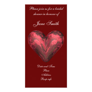 Rose heart picture card