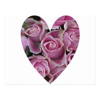 Rose Heart Post Cards