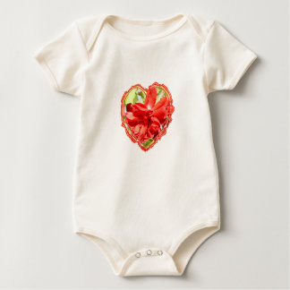 Rose Heart Red Baby Bodysuit