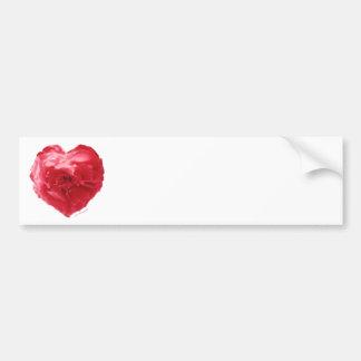 Rose Heart Red Label Car Bumper Sticker