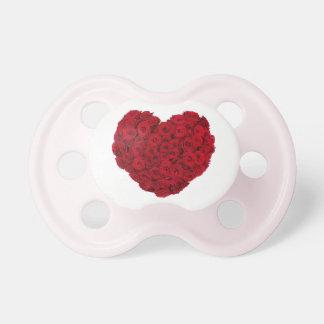 Rose heart shape baby pacifier