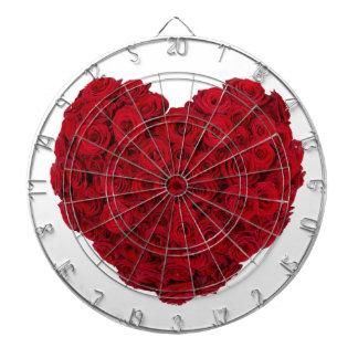 Rose heart shape dartboard